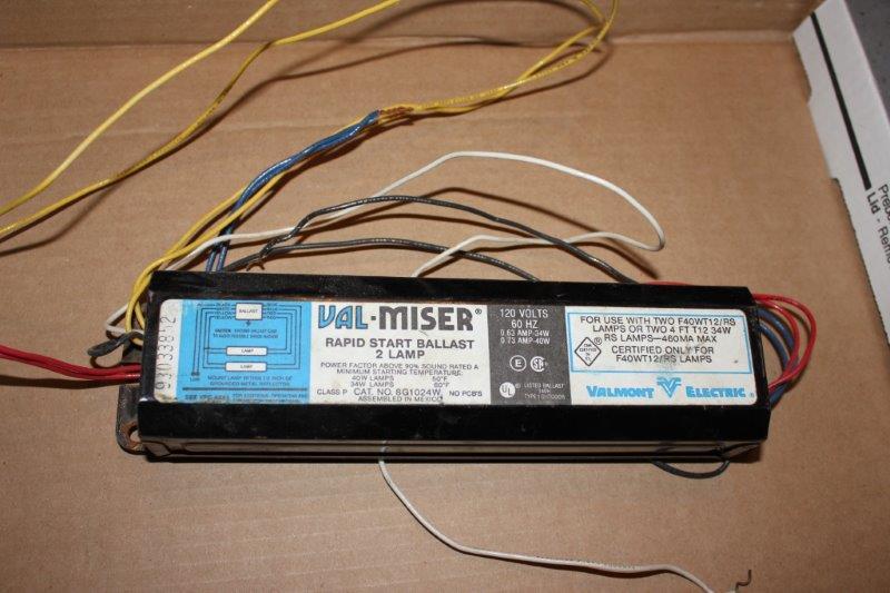 VALMONT VAL-MISER 277V .62A INSTANT START-SLIMELINE 2 LAMP BALLAST 8G1024W