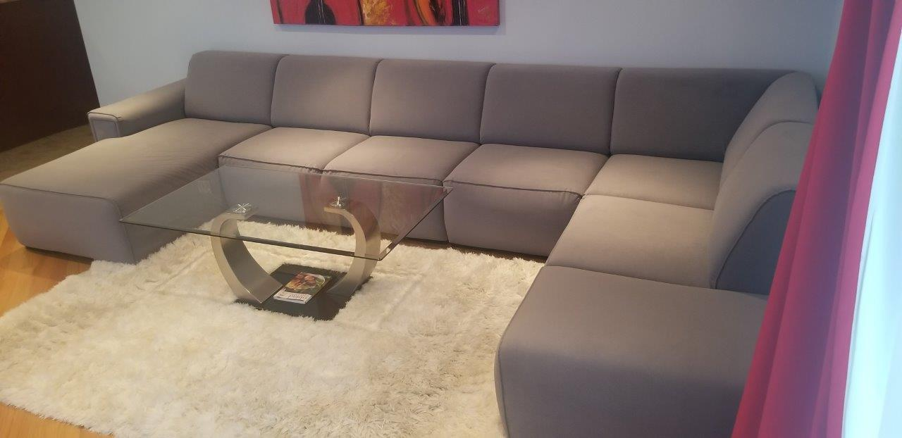 High End Custom Sectional bench sofa Zafira Carabu Living room furniture set