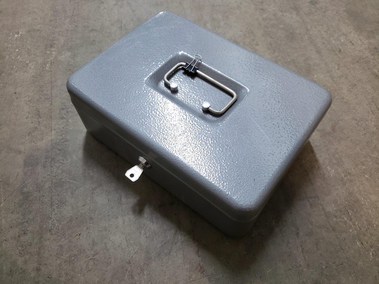 Cash Security Box - Gray, 11 13/16in.W x 9 7/16in.D x 3 3/16in.H