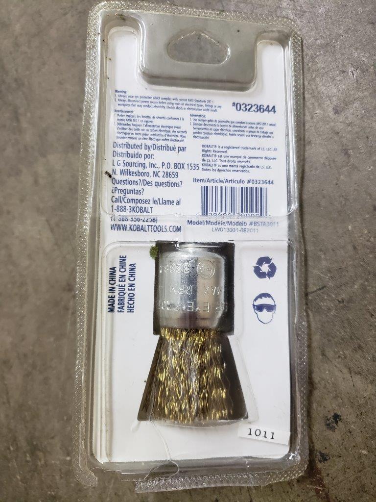 Kobalt 1-in 2.54 cm Wire End Brush #0323644 COARSE 1/4 in. Shank