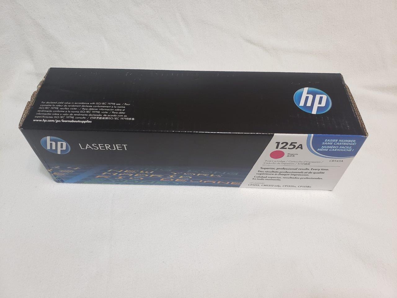 HP 125A Magenta Original LaserJet Toner Cartridge, CB543A  Genuine Sealed for CM1312nfi CP1215 CP1518ni printers