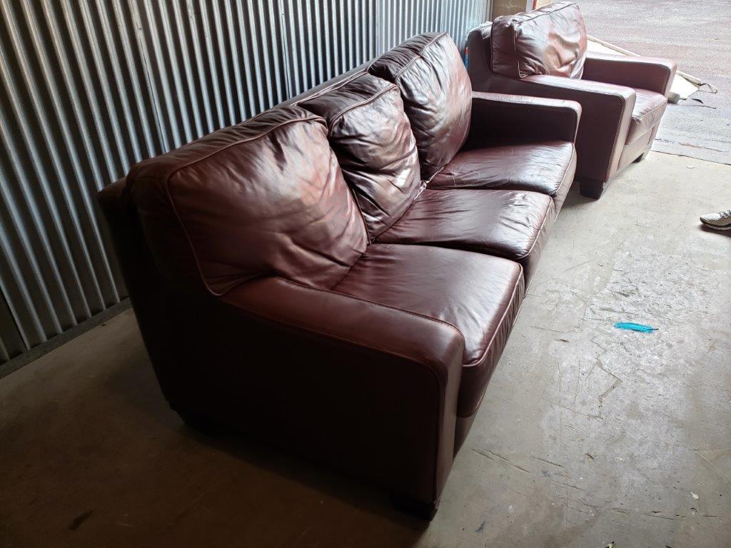 Leather 3-Seater Sofa