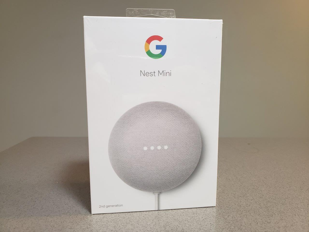 Google Nest Mini (2nd Generation) with Google Assistant (Chalk) 2019 VERSION - BRAND NEW!!!
