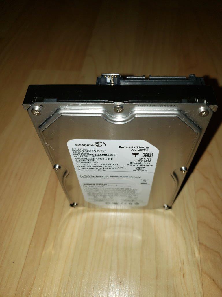 "Seagate BarraCuda 7200.10 ST3320620AS 320GB 7200 RPM 16MB Cache SATA 3.0Gb/s 3.5"" Hard Drive (Perpendicular Recording Technology) Bare Drive"