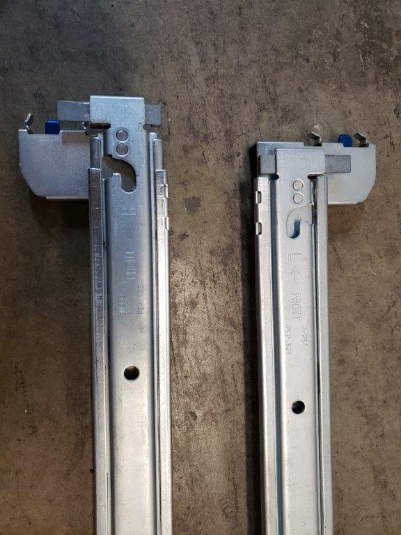 Dell POWEREDGE 2850 Server Rapid Rail Kit Left Right Rackmount Rails 3m953 3m954