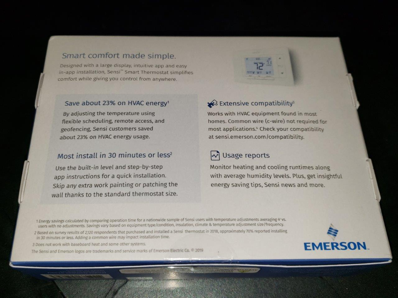 Emerson Sensi Smart Thermostat Model ST55U WIFI Smart Home, New Factory Sealed