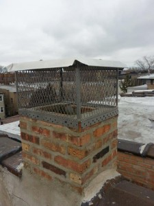 This chimney is supposed to have double liner and a single cap upon completion